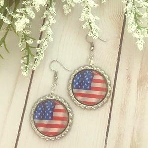Jewelry - American Flag Earrings